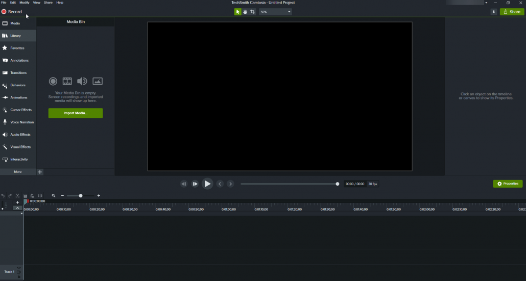 Camtasia 2020 Video Editor