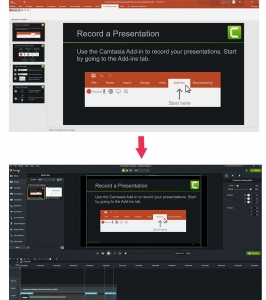 Camtasia 2020 Powerpoint import